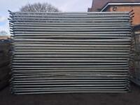 🔩 •Used• Heras Style Temporary Metal Fence Panels ~ Site Security