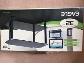 Two shelf TV stand.
