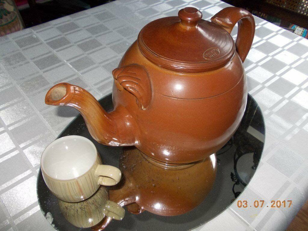 British Make Very Large Earthenware Catering Teapot