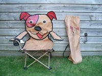 Childrens Patch the Dog Folding Camping Chair