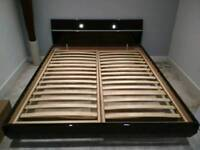 Black gloss king size bed