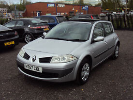 RENAULT MEGANE 1.5DCI EXPRESSION DIESEL5DR 6SPEED PANORAMICROOF CRUISE SERVICEHISTORY MOT £30ROADTAX