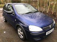 Vauxhall Corsa Energy Twinport 998cc Petrol 5 speed manual 3 door hatchback 54 Plate 27/09/2004 Blue