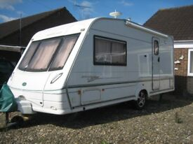 CARAVAN, BESSACAR CAMEO 495SL, 2003. 2-Berth. Two owners from new. No pets. Non-smokers.