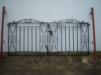 wrought drive gates plus new posts
