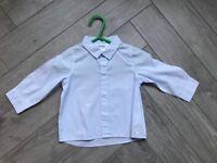 Designer baby boy clothes, Dior shirt, pale blue aged 9 months