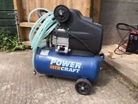 Brand new, never used 25 litre compressor +free accessory box+ free electric pruner