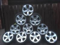 "3008 ALLOYS CHALLENGERS SINGLES OR SETS FIT FOUR STUD PEUGEOT OR CITROEN 215/45/17""£2️⃣7️⃣0️⃣ ONO"