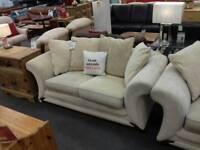 DFS 2 x 2 beige sofas ( British Heart Foundation )