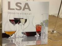 LSA wine glasses x 4 New