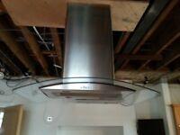Stainles Steel Central island cooker hood .four lights 3 fan speeds