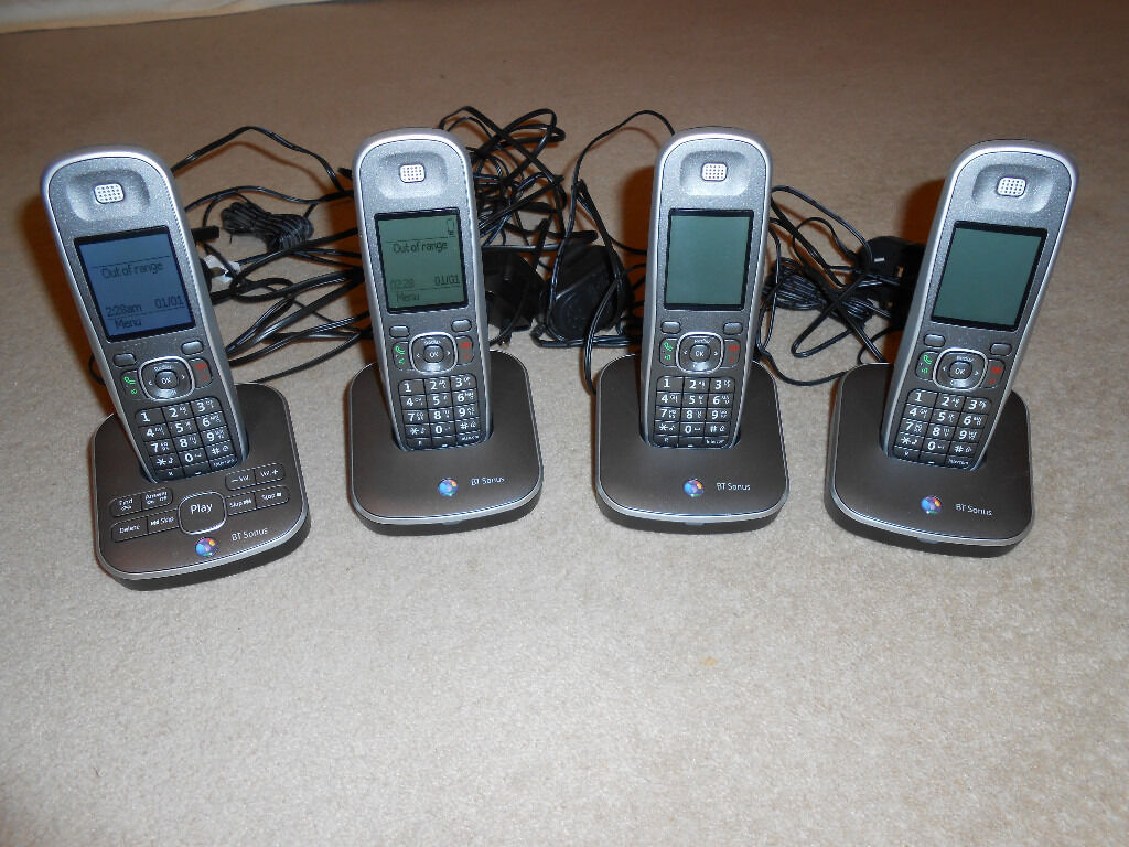 BT 7500 Cordless DECT Phone with Answer Machine 4 pack (quad)