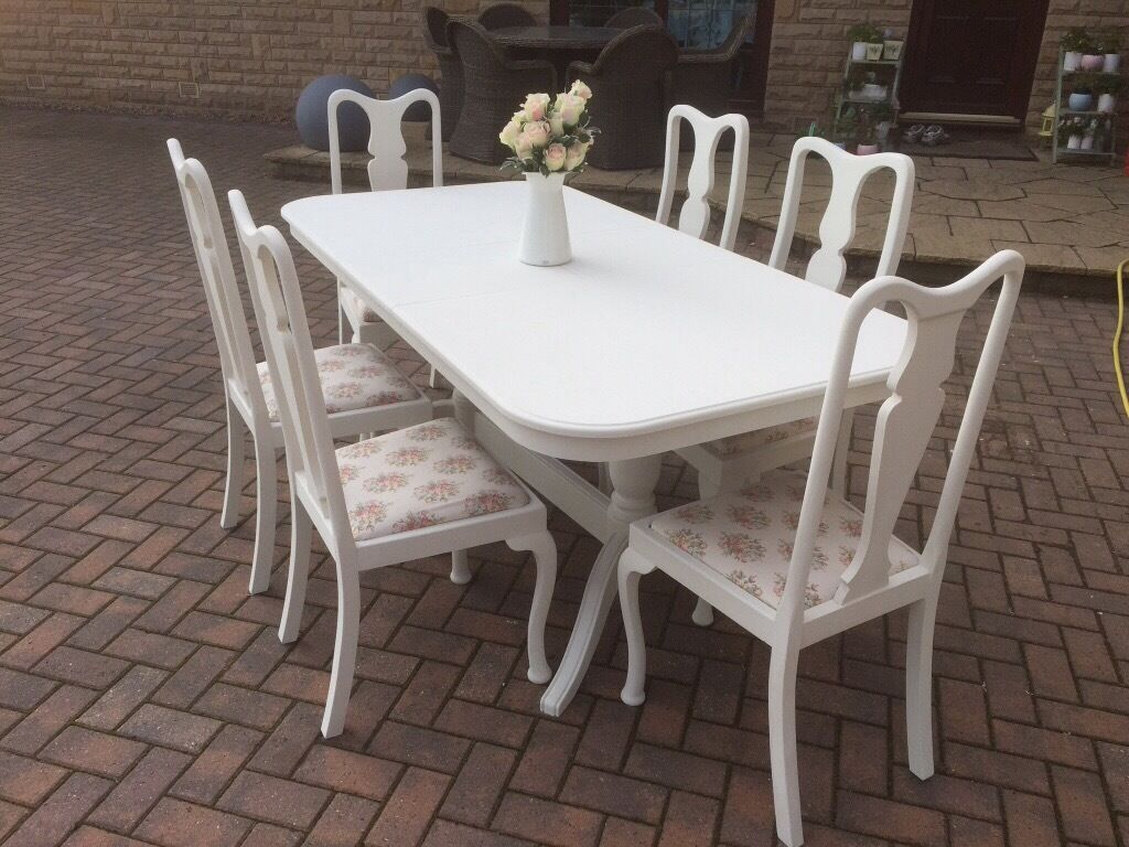 REDUCED Shabby chic dining table amp 6 Queen Anne chairs  : 86 from www.gumtree.com size 1024 x 768 jpeg 127kB