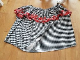 Gingham summer top size 16