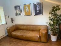 Large 3 seater leather sofa.