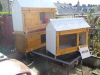 """rabbit hutch 48""""wide from £35.00 external/internal 7days 07889465089 up from hampden park all sizes"""