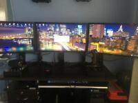 "Flight Simulator Driving Sim 28"" 4K monitor x3 Matrox Triplehead2go Dp Edition Fsx"