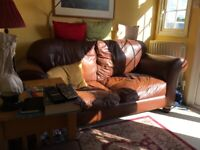 2 Seater Laura Ashley Chesterfield Leather Sofa