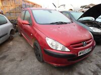 2003 PEUGEOT 307 GLX (MANUAL PETROL)(FOR PARTS ONLY)