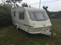 Touring Caravan by Elddis, End Bathroom with walk-in Shower, Damp Free