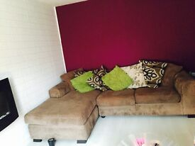 Fabric corner couch