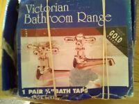 Bath taps gold