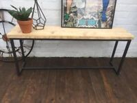 Revolution Industrial Bench - Reclaimed Wood with Steel Frames - Brand New