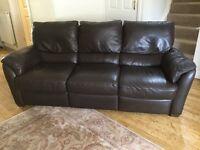 Natuzzi 3 Seater Leather inclining sofa