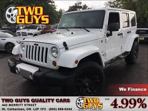 2011 Jeep WRANGLER UNLIMITED SAHARA| SADDLE LEATHER| FREEDOM TOP