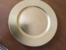 Attractive gold platters