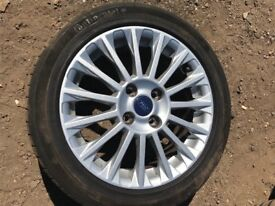 "Ford Fiesta 16"" titanium alloy wheel and good tyre"