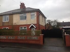 3 bedroom semidetached house £600 pcm.DG /GCH. Downstairs wc. Front and rear gardens. Large driveway