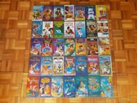 35 x Video Tapes Disney Aladdin Lion King Beauty and the Beast Toy Story Childrens Kids Cartoons VHS