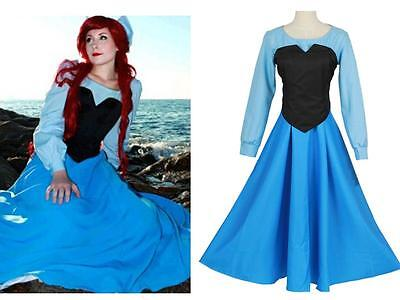 The Little Mermaid Ariel Mermaid Princess Fancy Halloween Dress Cosplay Costume