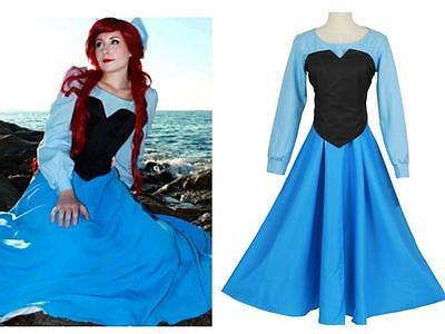 The Little Mermaid Ariel Mermaid Princess Fancy Halloween Dress Cosplay Costume
