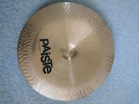 """PAISTE 502 18"""" CHINA CYMBAL. EXCELLENT CONDITION"""