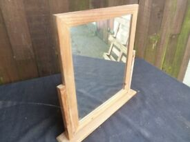 Wood Framed Bathroom Tilting Mirror Delivery Available
