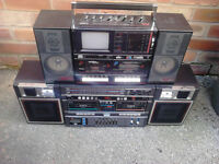Boombox Job lot x2 Ghetto Blaster Portable stereo Radio Cassette