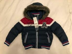 Navy Padded Boys Coat - Brand New