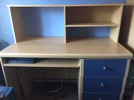 Wardrobe desk and bed