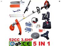 5 in 1 garden multi tool strimmer/chainsaw/hedge trimmer