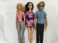 Barbie dolls including Ken