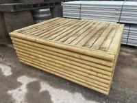 *NEW* TANALISED WOODEN GARDEN FENCE PANELS