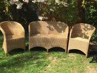 Wicker 3 piece set for indoor/conservatory use