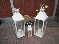 3 MARKS & SPENCER CANDLE LANTERNS
