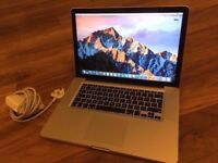 "Apple MacBook Pro 15"" Quad Core 2.5ghz i7, 8gb ram, 128GB SSD, 1gb Radeon 6770"