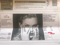 BARGAIN 2X Taylor Swift Reputation Tour Tickets Sat 23rd June 2018 £130 for the both