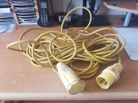 Electric camping, caravaning hook up lead. approx 15 meters. fully working but needs a clean.