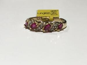 #1490 10K CUSTOM LADIES NATURAL RUBY RING *SIZE 5* JUST BACK FROM APPRAISAL AT $1150.00 SELLING FOR ONLY $395.00