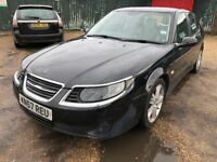 SAAB 9-5 Aero 2290cc Turbo Petrol Automatic 4 door saloon 57 Plate 31/10/2007 Black
